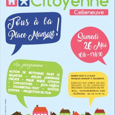 Journee citoyenne 2018 Montpellier Celleneuve ODETTE LOUISE